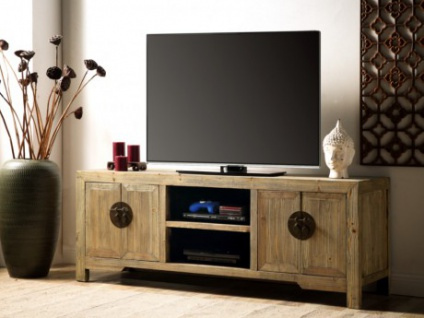 TV-Möbel Holz TRAPANO