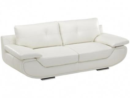 Ledersofa 3-Sitzer Orgullosa- Luxusleder - Weiß - Vorschau 2