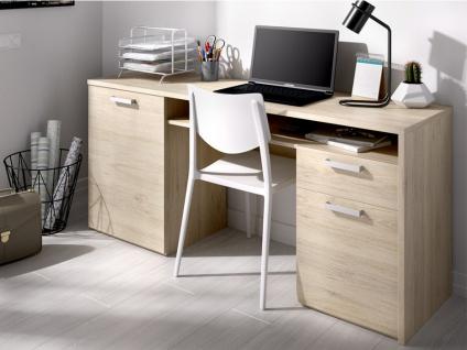 Schreibtisch mit Stauraum JAWIDA - Eiche