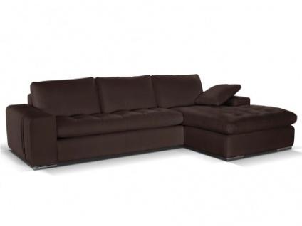 braun ledersofa ecksofa online bestellen bei yatego. Black Bedroom Furniture Sets. Home Design Ideas
