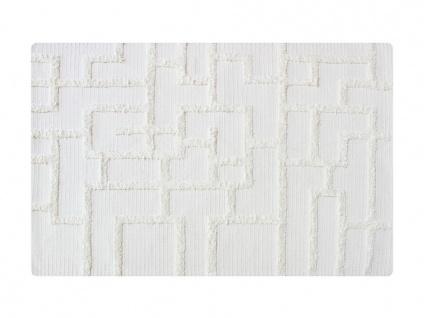 Teppich handgewebt PIERRO von SIA - Baumwolle - 190x290cm - Elfenbein