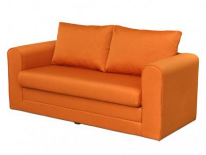 Schlafsofa Stoff Donau II - Orange - Vorschau 1