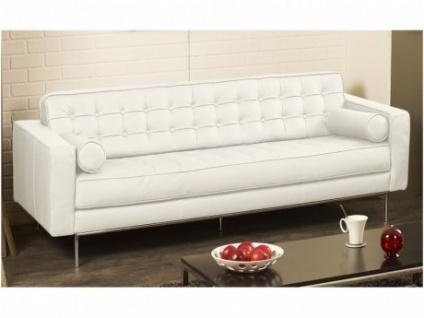 Ledersofa 3-Sitzer Vittoria - Standardleder - Weiß