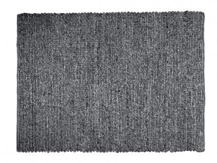 Teppich handgewebt WAKA von SIA - Baumwolle - 160x230cm - Anthrazit