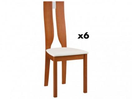 Stuhl 6er-Set Holz massiv Silvia