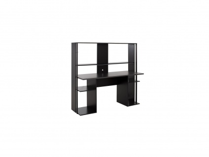 Gaming-Schreibtisch STANDA mit Stauraum & LED-Beleuchtung - Schwarz
