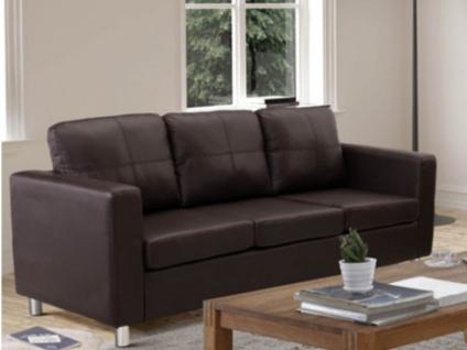Sofa 3-Sitzer Ackley - Braun