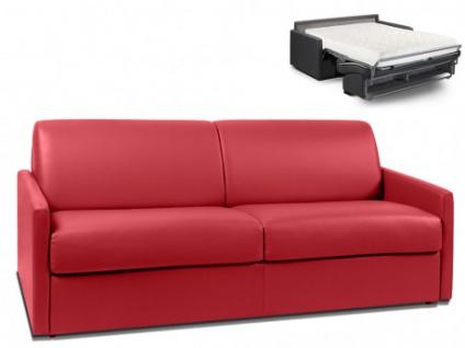 Schlafsofa 4-Sitzer CALIFE - Rot - Liegefläche: 160 cm - Matratzenhöhe: 18cm