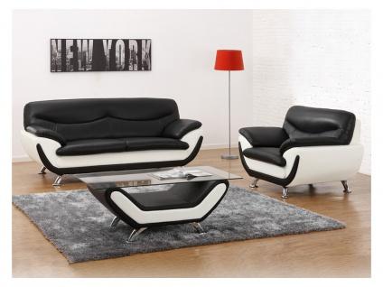 Couchgarnitur 3+1 Indiz - Schwarz & Weiß