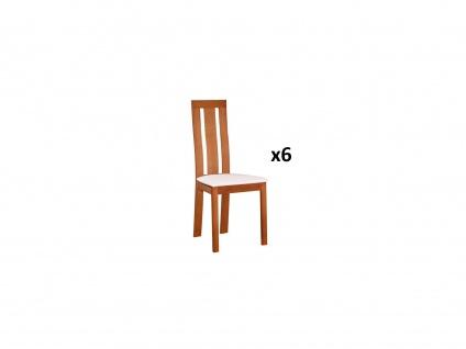 Stuhl 6er-Set Massivholz Domingo - Eichefarben