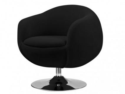 Lounge-Sessel Stoff Whisper - Schwarz