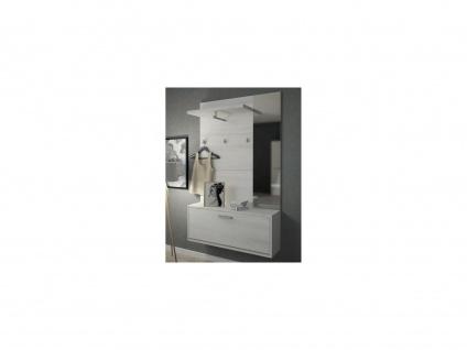 Garderobe CALEB - 1 Tür & 1 Ablage - Kiefernholzfarben - Vorschau 1