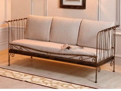 3-Sitzer-Sofa antikes Messing PROVENCIA