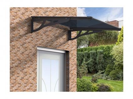 Vordach KEPLER - 120x90x22 cm - Aluminium - Schwarz