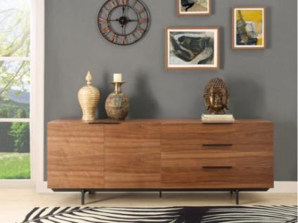 Sideboard TAYRON - 2 Türen & 3 Schubladen - Nussholzfarben