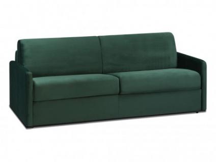 Schlafsofa 4-Sitzer Samt CALIFE - Tannengrün - Liegefläche: 160 cm - Matratzenhöhe: 18cm