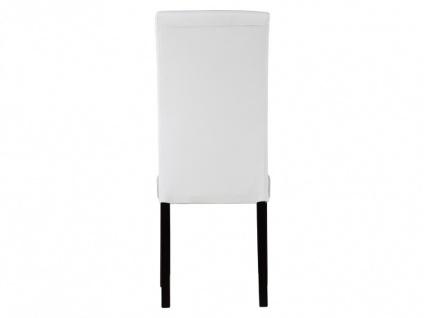 Stuhl 6er-Set Leder TADDEO - Weiß - Vorschau 5