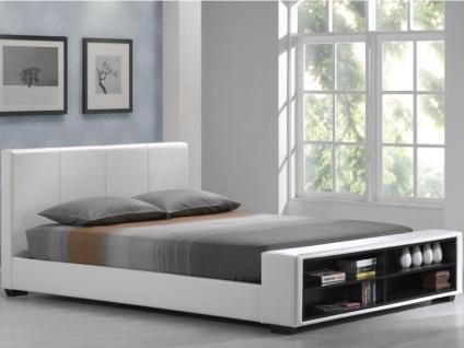 Polsterbett mit Stauraum Avalon - 160x200cm - Weiß - Vorschau 3