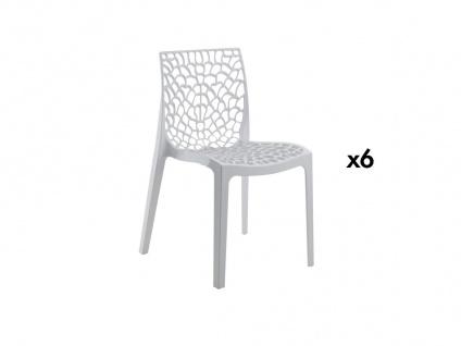 Stuhl 6er-Set Diadem - Kunststoff - Weiß