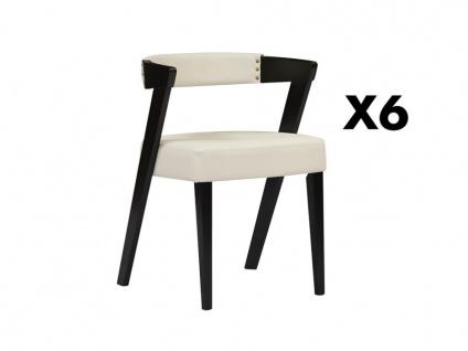 Stuhl 6er-Sets Holz ZETA