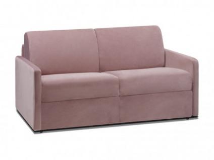 Schlafsofa 2-Sitzer Samt CALIFE - Rosa - Liegefläche: 120 cm - Matratzenhöhe: 18cm