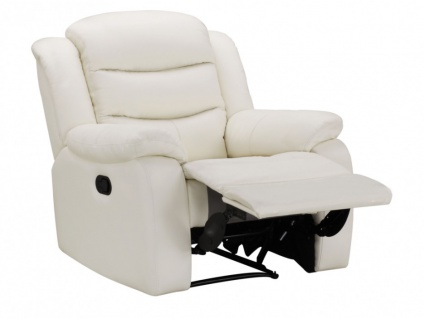 Relaxsessel Fernsehsessel Leder Pliton - Elfenbein - Vorschau 3