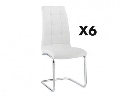 Stuhl 6er-Set NADYA - Weiß