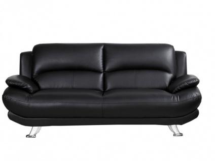 Sofa 3-Sitzer MUSKO - Schwarz - Vorschau 4
