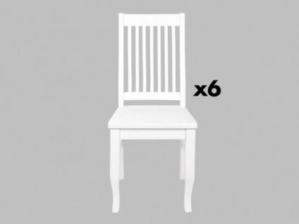 Stuhl 6er-Set Massivholz Gerande