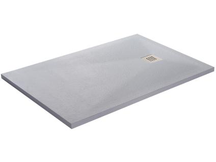 Duschwanne mit Siphon MIRNOS - 1000x800x35mm - Weiß