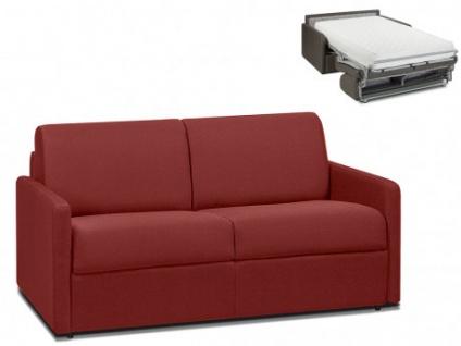 Schlafsofa 2-Sitzer Stoff CALIFE - Rot - Liegefläche: 120 cm - Matratzenhöhe: 22cm