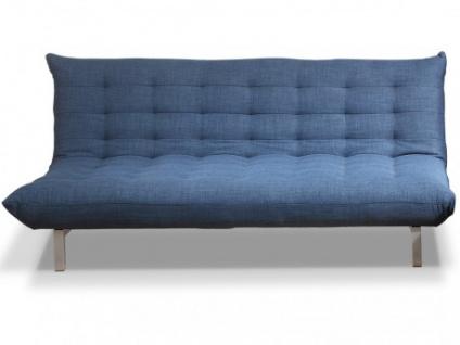 3-Sitzer Schlafsofa Stoff Hornet - Blau