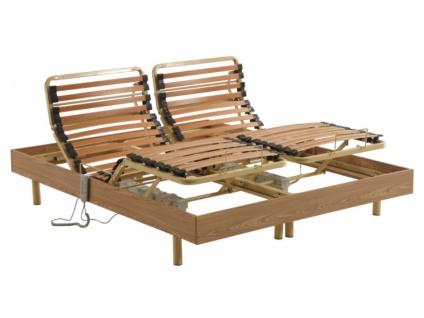Elektrischer Lattenrost 2er-Set Doppelfederleisten HYPERION - 2x80x200 cm - OKIN-Motor
