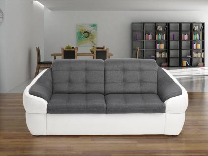 Sofa 2-Sitzer Stoff Farez - Weiß&Grau - Vorschau 2