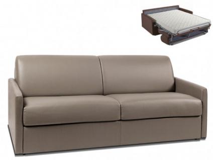 Schlafsofa 4-Sitzer CALIFE - Taupe - Liegefläche: 160 cm - Matratzenhöhe: 14cm
