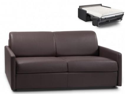 Schlafsofa 3-Sitzer CALIFE - Braun - Liegefläche: 140 cm - Matratzenhöhe: 18cm