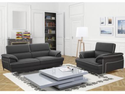 Couchgarnitur 3+1 Voltaire - Grau