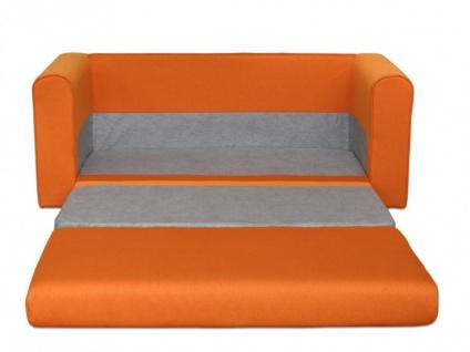 Schlafsofa Stoff Donau II - Orange - Vorschau 3