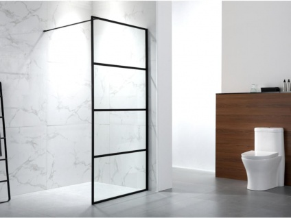 Duschtrennwand Seitenwand italienische Dusche INAYA - 120x200 cm
