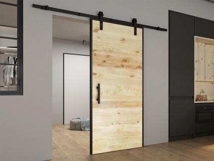 Schiebetür Holz RUSTIC - H 205 x B 83 cm