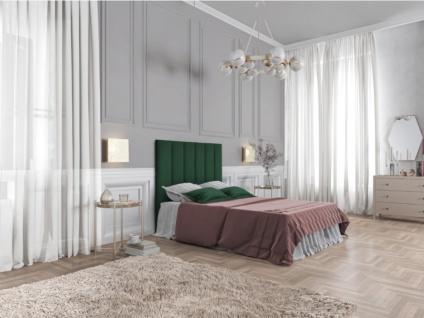 Bett-Kopfteil INGA - 140 cm - Samt - Grün