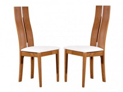 Stuhl 2er-Set Massivholz Salena - Holzfarben