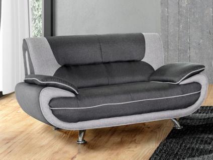 2-Sitzer-Sofa Stoff Nigel - Grau