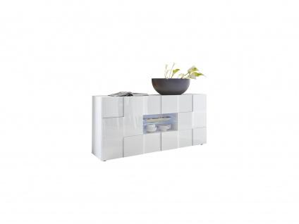 Sideboard mit LED-Beleuchtung CALISTO - Weiß lackiert - Vorschau 3