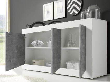 Sideboard COMETE - Weiß lackiert & Betonfarben - Vorschau 4
