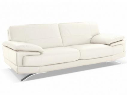 Ledersofa 3-Sitzer Emotion - Standardleder - Weiß