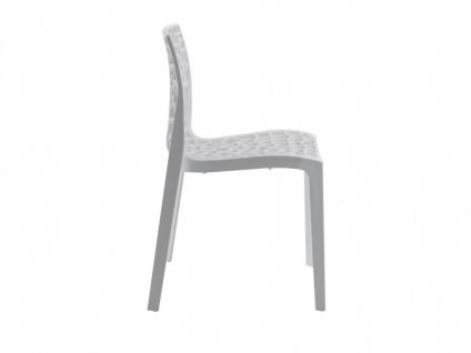 Stuhl 6er-Sets Diadem - Kunststoff - Weiß - Vorschau 4