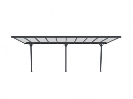 Terrassendach anlehnend ALVARO - Aluminium - 18, 8 m² - Vorschau 3