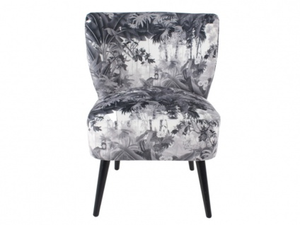 Sessel aus bedrucktem Stoff FOREST
