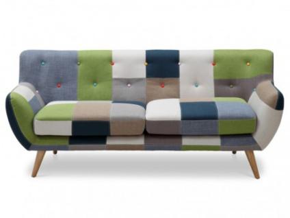 3-Sitzer-Sofa Stoff Serti - Patchwork Grün